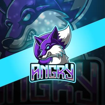 Wolves esport mascot logo