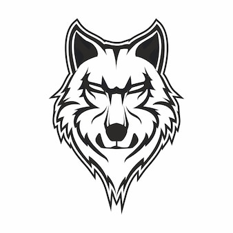 Волки рисованной гравюры