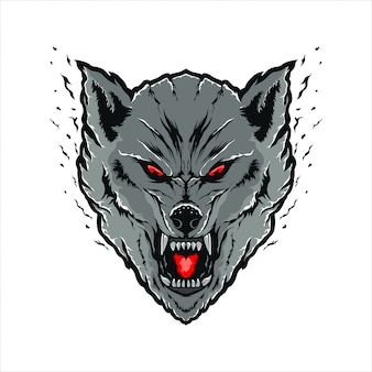 Wolves head illustration