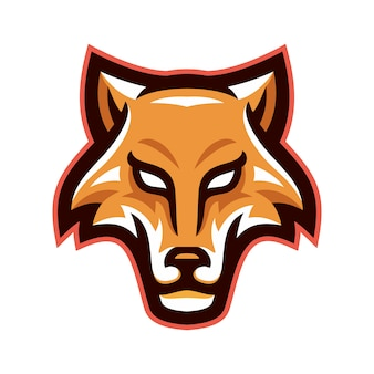 Wolves head mascot logo vector