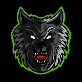Wolves head vector illustration