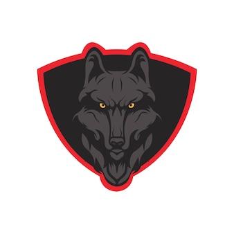 늑대 마스코트 로고 헤드 스포츠 팀
