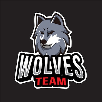 オオカミチームのロゴのテンプレート