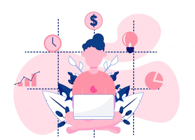 Woman analyzing business reports