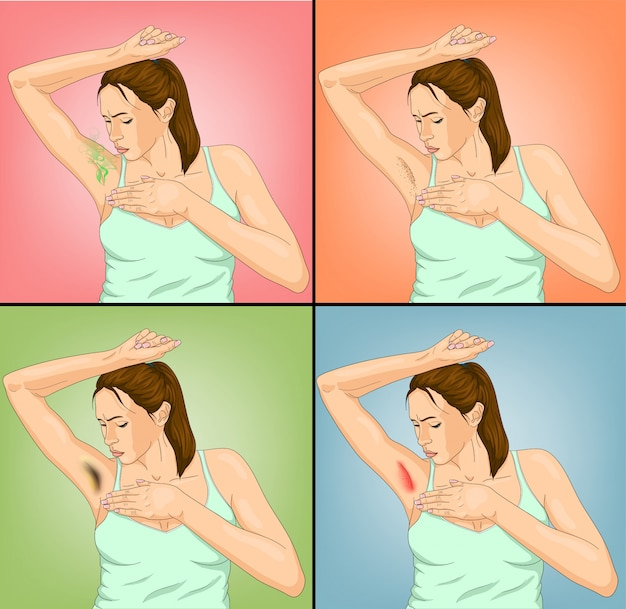 Woman armpits illustration