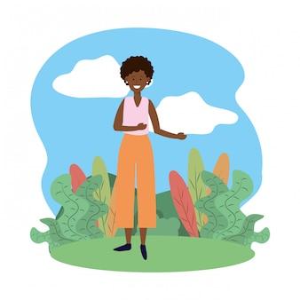 Woman avatar cartoon character