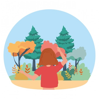 Woman avatar in the park