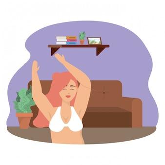 Woman avatar in underwear