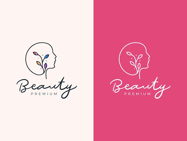 Концепция дизайна логотипа монолинии красоты женщины