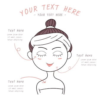 Woman beauty vector clean style