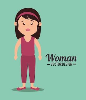 Woman body cartoon