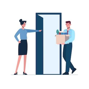 Женщина-босс оставляет мужчину без работы