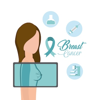 Woman breast cancer diagnosis treatment