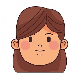 Woman brunette avatar