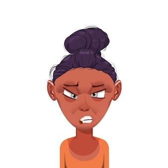 女性の漫画のキャラクターのアバター
