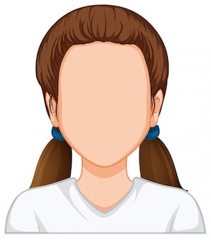 Woman character with empty face