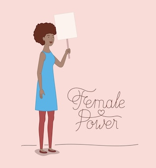 Woman character with feminist message