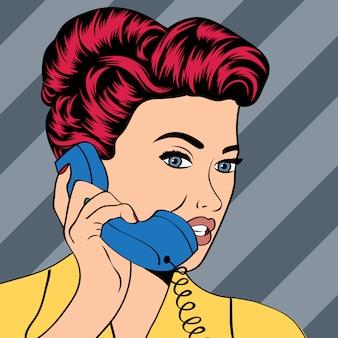 女性は電話でチャット