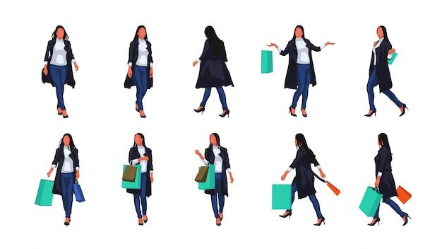 Woman in coat set