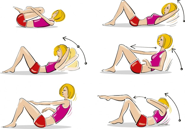Woman doing abdominal exercises