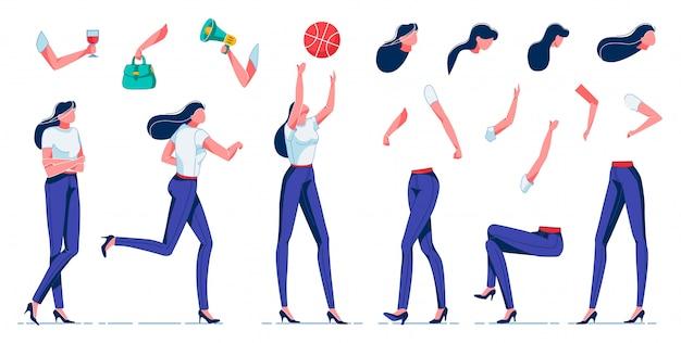 Женщина делает различные виды деятельности, свободное время квартира.