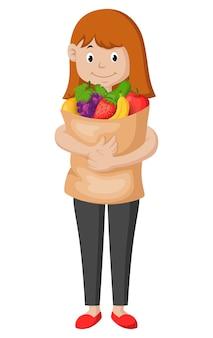 Woman doing grocery shopping