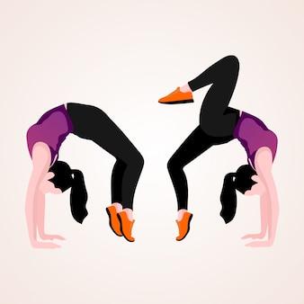 Woman doing yoga postures