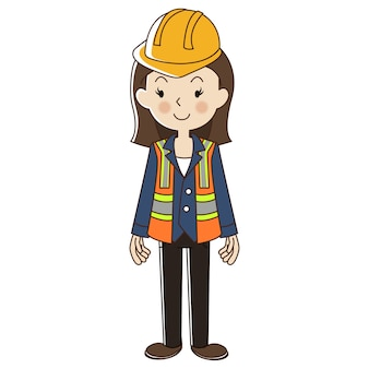 Woman engineer with safety helmet