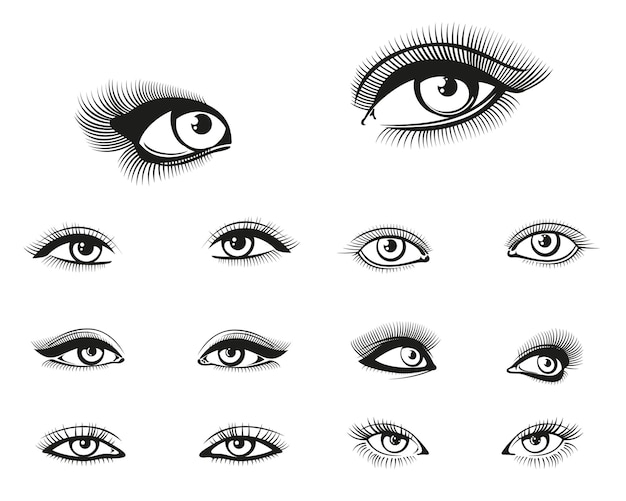 Woman eyes set
