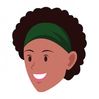 Woman face avatar cartoon character