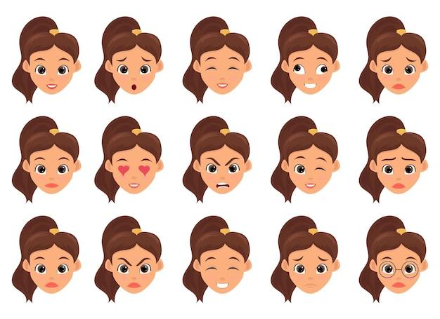 Изолированная иллюстрация дизайна выражения лица женщины