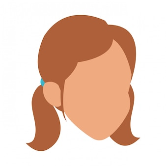 Woman faceless avatar vector illustration graphic design