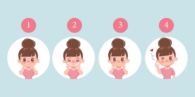 Средство для мытья лица для женщин для очищения акне с очищающим средством для лица.