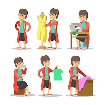 女性ファッションデザイナー漫画