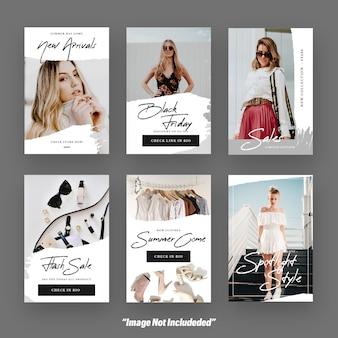 女性ファッションinstagramストーリーソーシャルメディアテンプレート