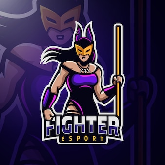 Woman fighter masked