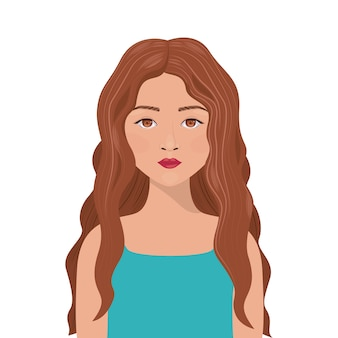 Woman girl female cartoon avatar icon