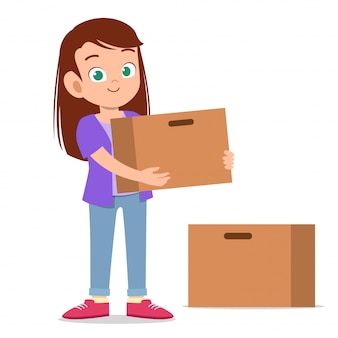 Woman give donation vector illustration