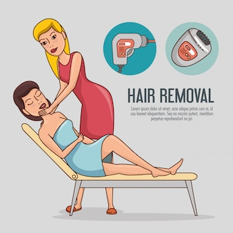 Woman in hair removal treatment