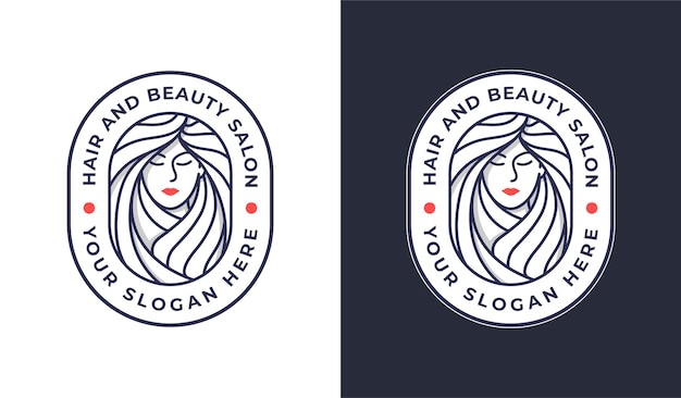 Woman hair salon logo design