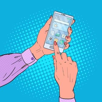 Woman hands using smart phone