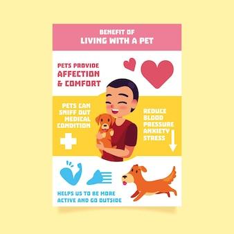 Женщина держит собаку инфографики