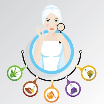 Woman illustration what to do if you have winter dry skin care