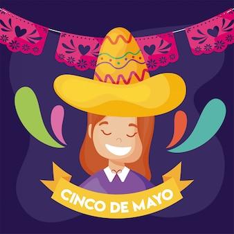 멕시코 전통 의상, 친 코 데 마요네즈의 여자