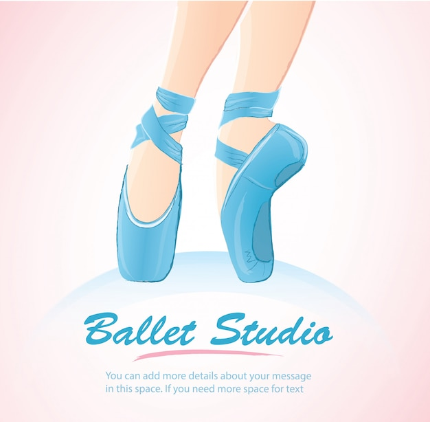 Woman leg ballerina background