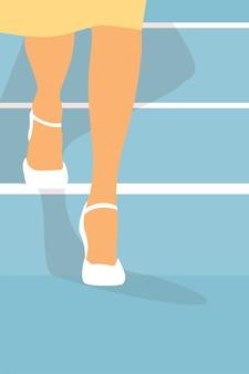 女性の足。