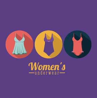 Woman lingerie, vector illustration