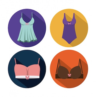 Woman lingerie, vector illustration