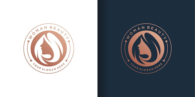 Woman logo template set