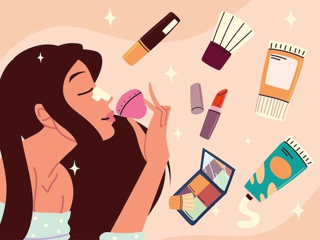 Woman makeup kit